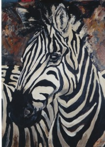 Portrait of a Zebra <720x600mm>